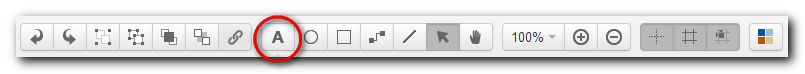 The text toolbar item