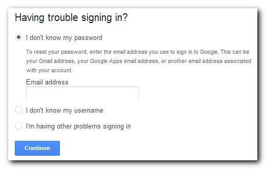 Google login secondary