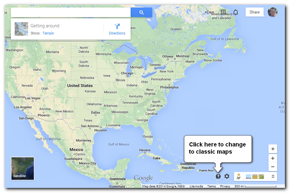 How to Switch Back to the Clic Version of Google Maps Google Map Update on google earth update 2014, google maps updated 2012, google maps street view, google search, google sky,