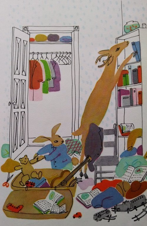 The Messy Rabbit's messy bedroom