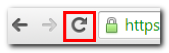 The reload button in Google Chrome