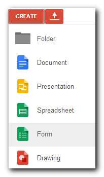 Create form menu