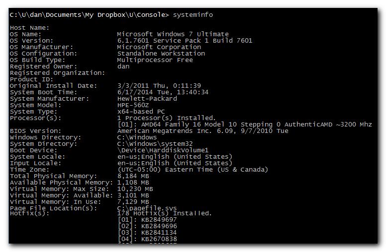 System Information CLI